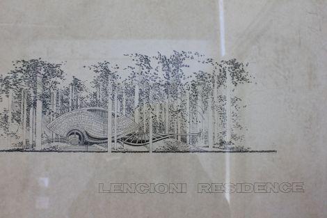 Dyson's rendering of Lencioni Residence, circa 1984